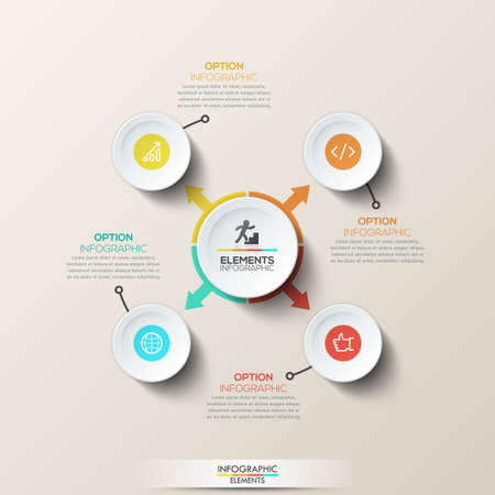 up code: Modern infographic design template