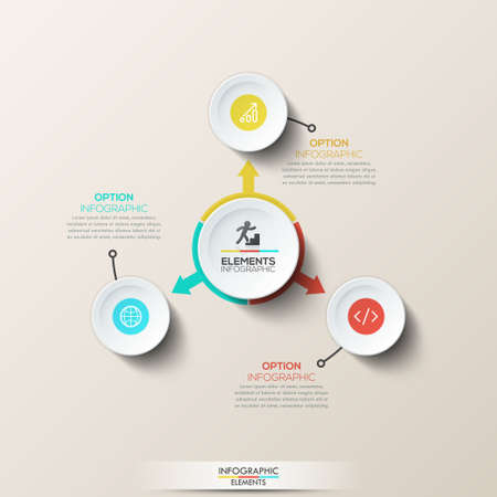 three pointer: Creative infographic design layout