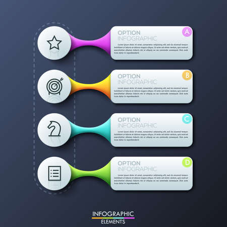 unique characteristics: Modern infographic design template