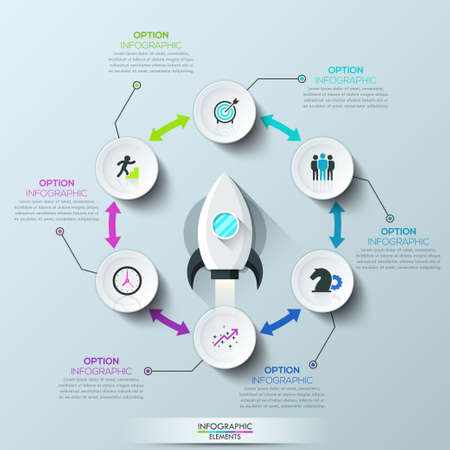 double headed: Infographic design template