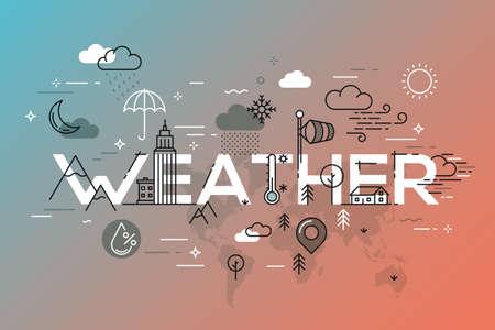 要素のベクター アイコンを天気の概念。 写真素材 - 79138563