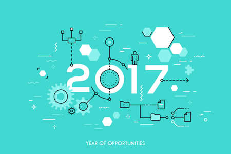 Tendenze e prospettive future nell'organizzazione dei processi aziendali, strutturazione, networking, comunicazione Vettoriali