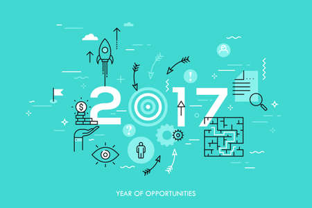 prospects: New trends, prospects and predictions in business challenges, targeting, problem solving Illustration