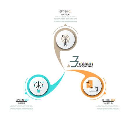 Infografisches Design-Layout