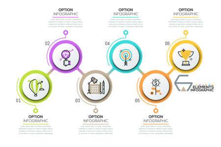 Modello moderno di progettazione infografica