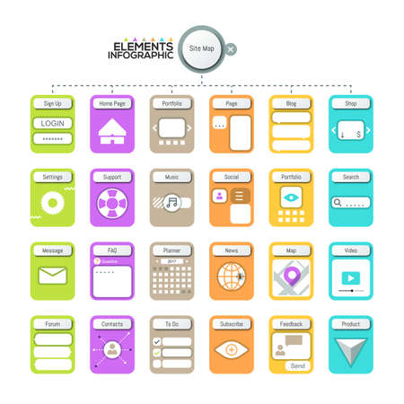 Creative infographic design template. Illustration