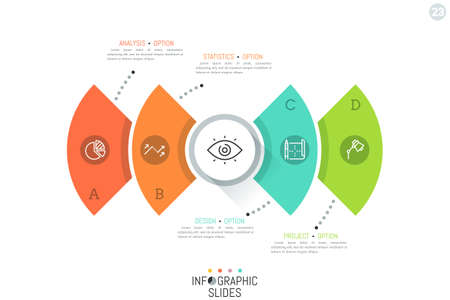 features: Modern infographic design template. Illustration