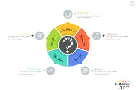 Rundes Diagramm Unterteilt In 8 Beschriftete Sektoren Mit Pfeilen ...