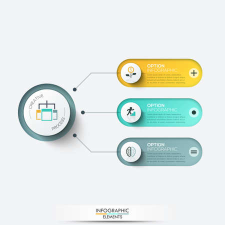 Vector elements for infographic. Template for diagram, graph, presentation and chart. Business concept with 3 options, parts, steps or processes.