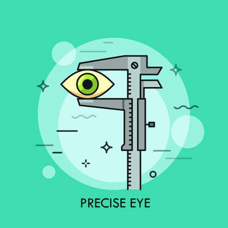 Human eye measured with vernier caliper.