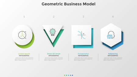 Creative infographic template Ilustracja
