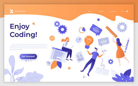Flat Landing Page Template