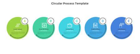 Modern Infographic Vector Template Vektorové ilustrace