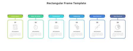 Modern Infographic Vector Template Vecteurs