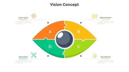 Flat Infographic Template Illusztráció