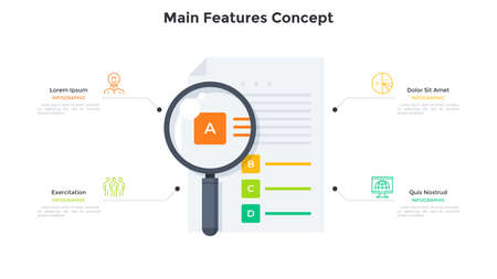 Flat Infographic Template Vecteurs