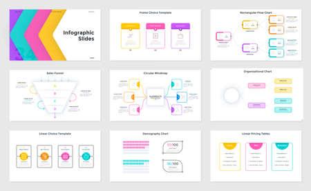 Modern Infographic Vector Template Vektorgrafik