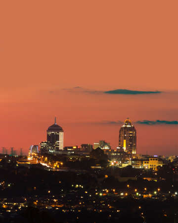 Sandton skyline, an affluent suburb of Johannesburg, Gauteng, South Africa. 新聞圖片