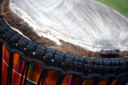 african drums: Close up view of traditional african drums