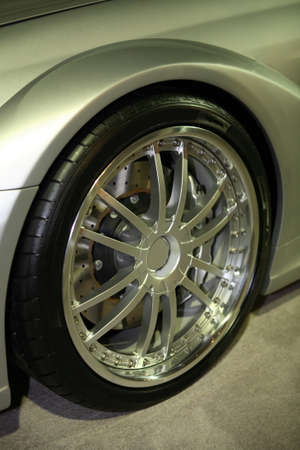 mag: Luxury Sports Car Mag Wheel Stock Photo