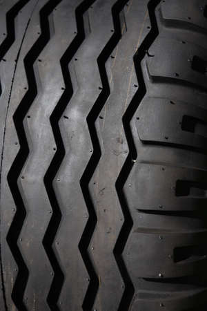 Close up view of a large tire