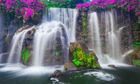 Waterfall in Hawaii photo