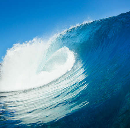 Blue Ocean Wave, View from in the Water photo