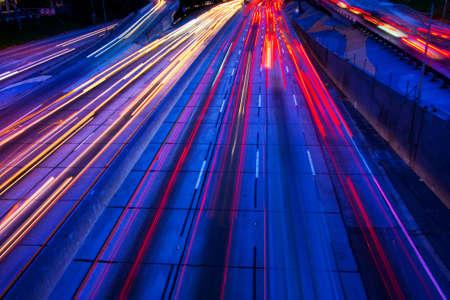 expressway: Freeway Traffic at Night
