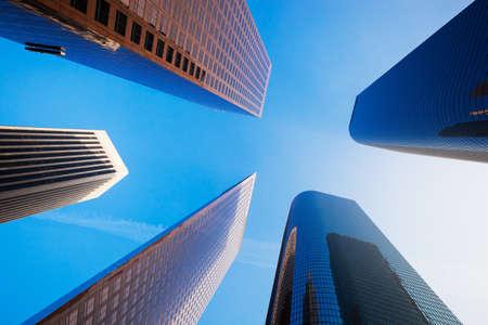 sky scrapers: Sky Scrapers, Urban Buildings and Blue Sky