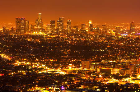 Los Angeles, Urban City at Sunset photo