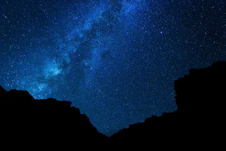Stars in the Night Sky, Milky Way Galaxy Banque d'images