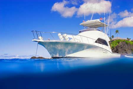 pleasure boat: Luxury Yacht