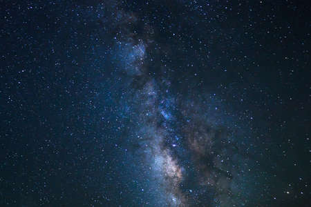Night Sky, Bright Stars and Milky Way Galaxy photo