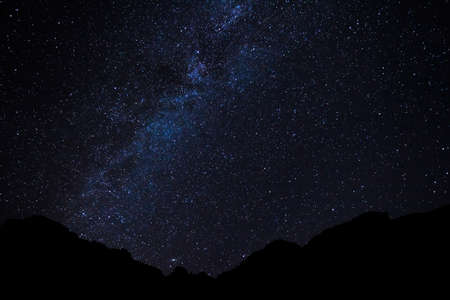 Stars in the Night Sky, Milky Way Galaxy Stock Photo