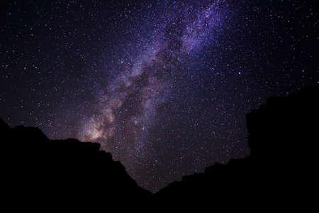 orion: Stars in the Night Sky, Milky Way Galaxy Stock Photo