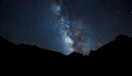 Night Sky, Bright Stars and Milky Way Galaxy photo