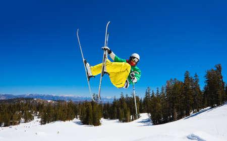 Skier gets Big Air off Jump photo