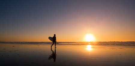 Sunset Surfer Stock Photo - 11928221