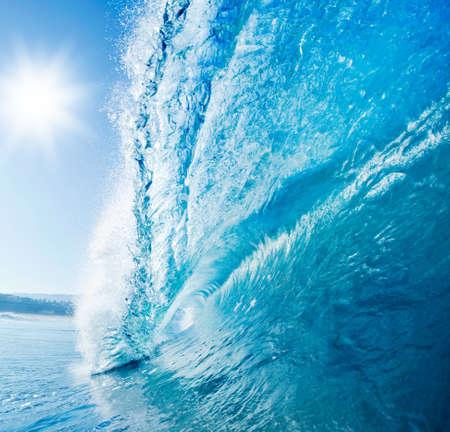 Blue Ocean Wave Stock Photo - 11928252