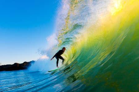 青い海の波のサーファー 写真素材 - 11946038