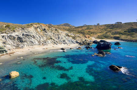 catalina: Beautiful Beach on Catalina Island Stock Photo