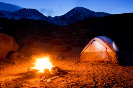 Campfire in the Mountains photo