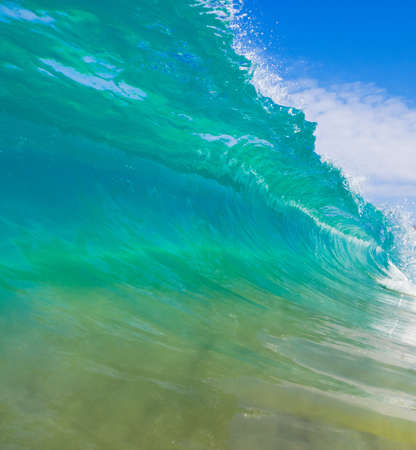 wave: Breaking Ocean Wave Crashing over Camera