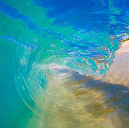 watersports: Breaking Ocean Wave Crashing over Camera