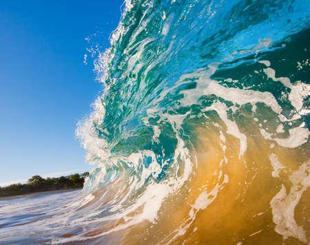 breaking wave: Breaking Ocean Wave Crashing over Camera