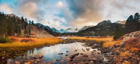 Amazing Landscape, Beautiful Mountain Sunset Panorama