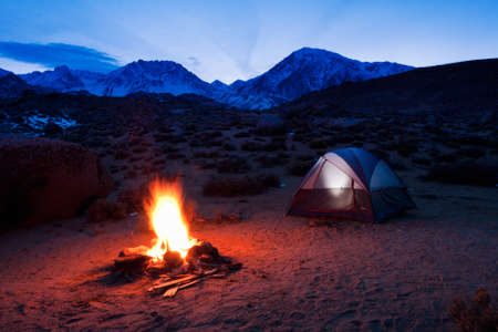 bonfire night: Camping in the Mountains