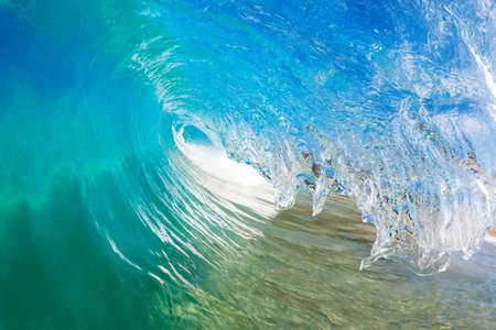 Blue Ocean Wave, View from in the Water Stock Photo - 12066641