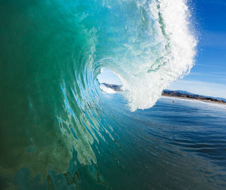 watersports: Blue Ocean Wave, View from in the Water