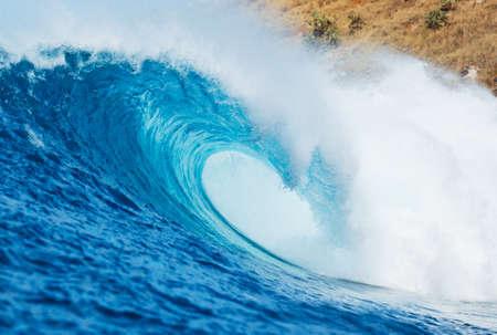 Blue Ocean Wave, Uitzicht vanaf het water een Surfers Perspectief